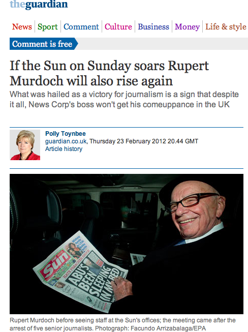 Murdoch launches Sun on Sunday